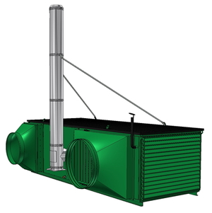 Compact blower consisting of: main blower (heating and support air) and reserve blower